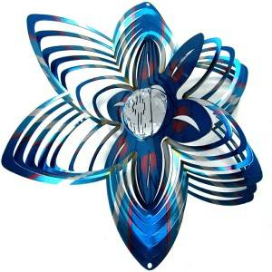 Multi-colored 3D FLOWER wind spinner