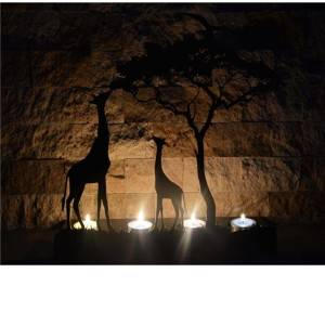 Decorative Giraffe Metal Candle holder