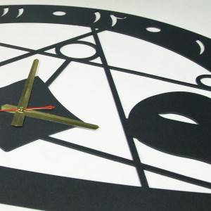 Islamic metal wall clock