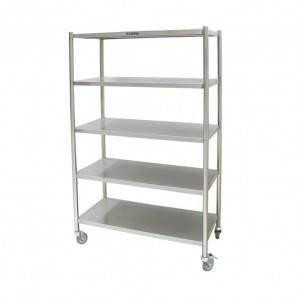 Flat storage shelf