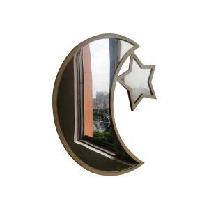 OEM Supply Hanging Mirror Set - Decorative half lunar Moon phase star glass mirror for home wall hanging – Shunda