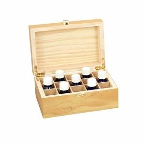 Rectangular square wooden gift packing box with removable compartment storage tray