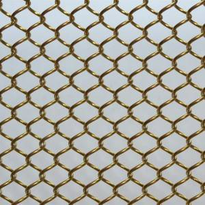 Cheap price Coiled Wire Fabric For Screen&Room Dividers - XY-AG1006G Architectural Metal Coil Drapery – Shuolong