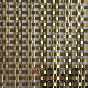 Hot-selling Metal Fabric For Space Partition – XY-1513P golden Decorative Wire Mesh for Hall Screen – Shuolong