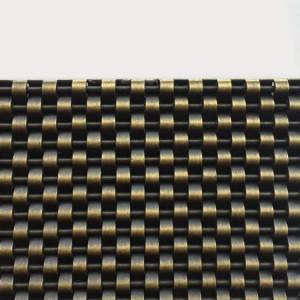 XY-1405G Woven Metal Antique Brass Finished Mesh for Interior Decoration