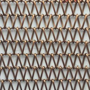 Best Price on Metal Mesh Sunscreen - XY-A1215B Paint Copper Color Link Weave Decorative Wire Mesh for Room Divider – Shuolong
