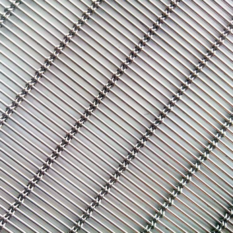 2. Metal wire mesh for facade cladding