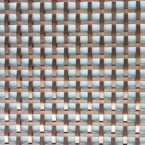 China wholesale Wire Mesh Ceiling - XY-1593G Copper Color Half-round Wire Mesh – Shuolong