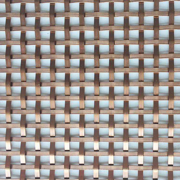 Hot New Products Wire Mesh Ceiling Panels - XY-1593G Copper Color Half-round Wire Mesh – Shuolong