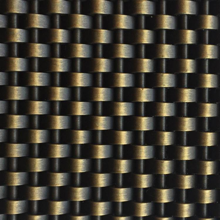 XY-1405G Woven Metal Antique Brass Finished Mesh for Interior Decoration Featured Image