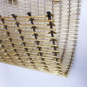 XY-2175T Glass Laminated Decorative Wire Mesh for Elevator Hall