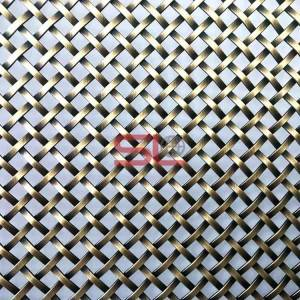 New Arrival China Partition Metal Mesh - XY-1510G Antique Brass Plated Wire Mesh for Cabinet Door – Shuolong