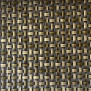 XY-3150G Antique Brass Mesh Screen for Wine Cabinet