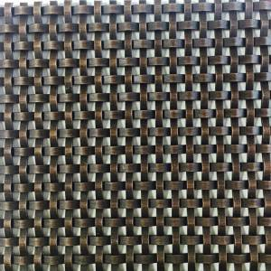 2020 Good Quality Antique Brass Wire Mesh - XY-3310GO Antique Bronze Antique Plated Metallic Mesh Fabric for Cabinetry – Shuolong