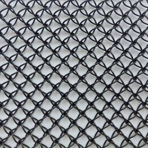 XY-F1510 PVC Black Color Mesh for Restaurant