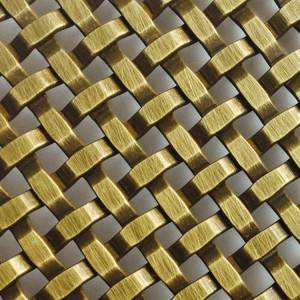 Good Quality China Metal And Curtain - XY-3411G Antique Brass Square Mesh – Shuolong