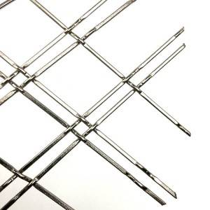 XY-D2 Stainless Steel Sliver Double Wire Mesh for Cabinet