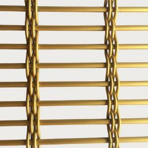 Bottom price Metal Mesh Screen - XY-7543P fluorine-carbon spra to paint gold color Metal Mesh Divider – Shuolong