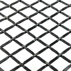 Manufacturer for Cabinets Flat Wire Mesh - XY-C1B Black Furniture Metal Mesh Insert – Shuolong