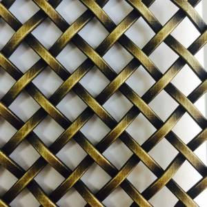 OEM/ODM China Cabinets Metal Screen - XY-3110G Antique Brass Mesh Grid – Shuolong