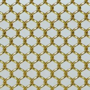 Excellent quality Architectural Metal Wire Mesh Curtain - XY-AG1042 Gold Metal Mesh Fabric – Shuolong