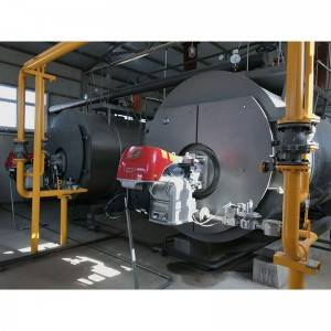 natural gas & oil fired hot water boiler