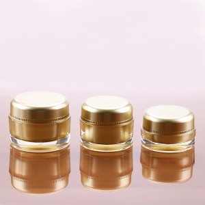 professional factory for Lotion Pump Bottle - 15g 30g 50g Gold Color Acrylic Jar for Cosmetic Hot Sale Cream Plastic Bottle – Sich