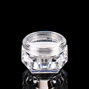 Best-Selling Cosmetic Cream Jar - 5g Unique Shape Cosmetic Container Nail Powder PS Container Clear Nail Powder Plastic Jar  – Sich