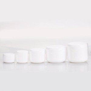 Factory Cheap Recycled Cosmetic Containers - 20g 30g 50g 100g 150g White Big Size Plastic Body Lotion Jar Single Wall Body Scrub Container  – Sich