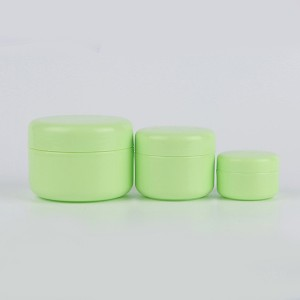 High Quality for 4 Oz Cosmetic Jars With Lids - 15g 30g 50g Green Hair Product Plastic Containers Cosmetic Packaging Jars for Creams  – Sich