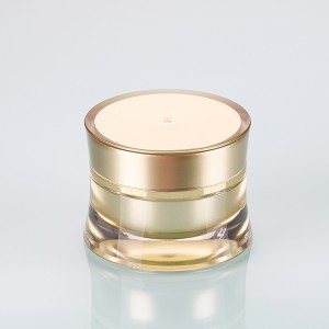 Good User Reputation for Ball Jar Plastic Lids - 5g 10g gold color gel acrylic nail art polish container double wall cream jar  – Sich