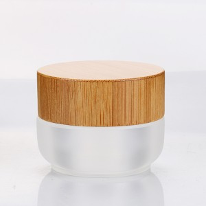 15g Recyclable Acrylic Face Cream Container Small Cosmetic Pot with Bamboo Cap