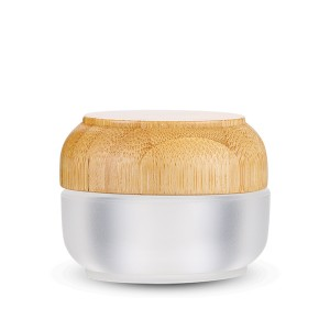 High reputation Cosmetic Bottles And Jars - 15g High Quality Bamboo Wooden Acrylic Custom Cream Jar Frosted Clear Face Cream Container  – Sich