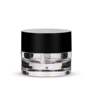 Chinese wholesale Black Cosmetic Jar - 3g*2 jar cream plastic cosmetic nail powder clear bottle  – Sich