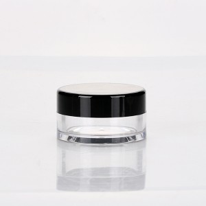 Original Factory Essential Oil Containers Wholesale - 10g empty loose powder clear black cap wholesale cosmetic nail uv gel plastic jar with sifter  – Sich