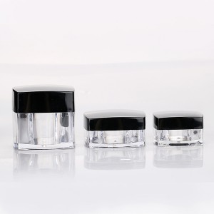 Leading Manufacturer for Empty Cream Bottle - 3g 5g 10g 20g square cosmetic loose powder cream jar clear skin care containers  – Sich