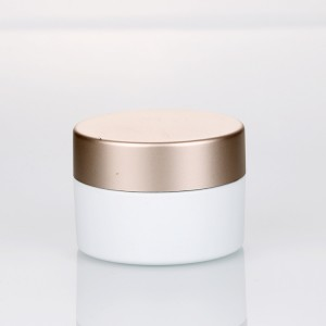 8g white cosmetic eye cream plastic container small custom logo nail polish jars