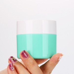 50g Green Plastic Nail Varnish Gel Jar Custom UV Polish Container with Screw Cap