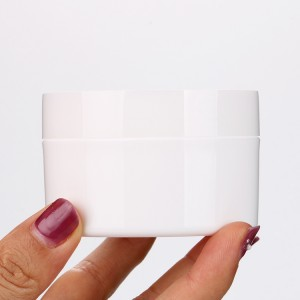 50g Thick Plastic Nail Gel Container White Moisturizer Jar High Quality Nail Polish Bottle