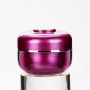 10g Purple Acrylic Cosmetic Packaging Cream Jars Korean Style Nail Polish Luxury Container