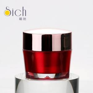 5g Red Acrylic Personal Cosmetic Cream Jars New Design Small Nail Art Containers