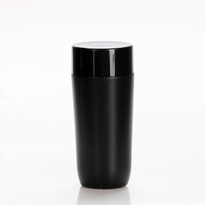 China Cheap price Nail Polish Jar - 300ml Large Size Black Lotion PP Plastic Makeup Remover Bottle – Sich