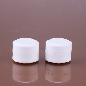 1.5g empty color nail gel polish white bottle pp plastic simple exquisite jar mini container
