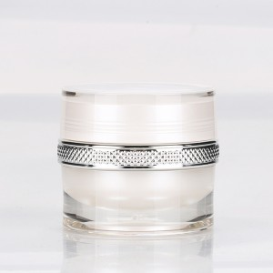 2020 Good Quality Container Cream - 5g Thick Wall Acrylic Nail Art Powder Container Luxury Empty Clear UV Gel Plastic Cream Jar  – Sich