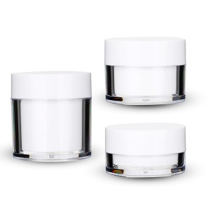 China New Product Acrylic Cosmetic Containers - 15g 30g 50g clear round cosmetic loose powder jar with sifter  – Sich