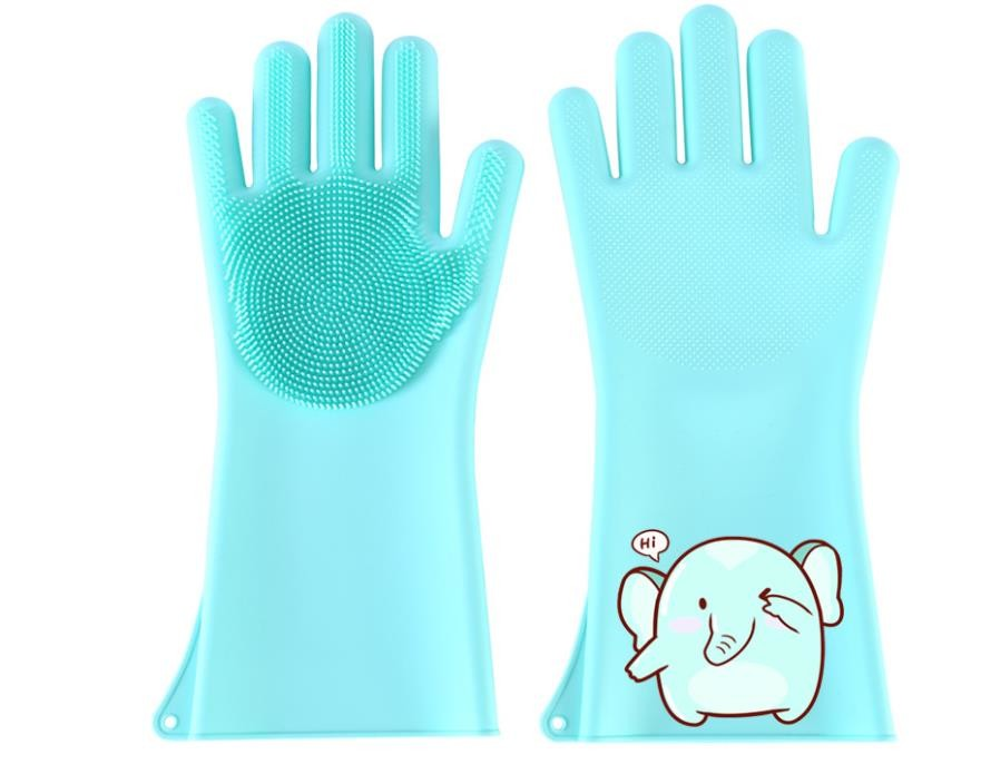 Cleaning  Silicone Hand Gloves , Silicone Cooking Mitts Waterproof For Laundry