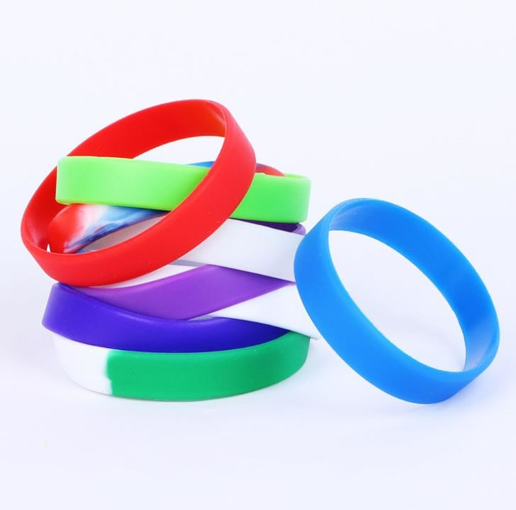 Promotional Silicone Rubber Bracelets , Custom Silicone Bracelets Colorful