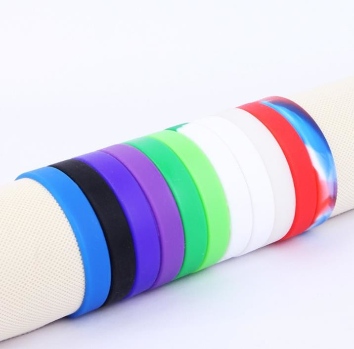 Soft Flexible Silicone Rubber Bracelets 202*12*2mm For Basketball Player