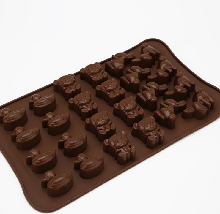 Animal Shaped Silicone Chocolate Molds Unique Deisgn For Kids Children