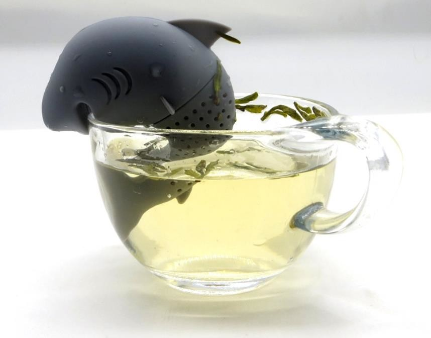 Sea Animal style Shark Shaped Food Grade Silicone Tea Infuser